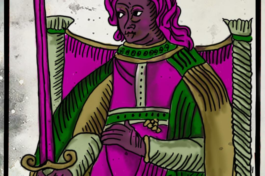 La reina de espadas en el Tarot de Marsella